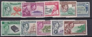 PITCAIRN ISLANDS  1940  S G 1 - 8 SET OF 10 MH CAT £75 PAPER REMAINS TO 2 STAMPS