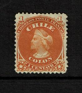 Chile SC# 15 Mint No Gum / Multi Hinge Rem - S7365