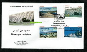 2020 - Tunisia - Tunisie - Tunisian Dams- Barrages Tunisiens- FDC