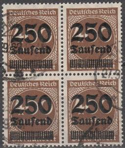 Germany #258 F-VF Block Of 4  CV $76.00