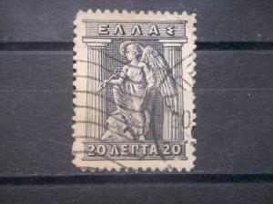 GREECE, 1911, used 20l, Hermes, Scott 203