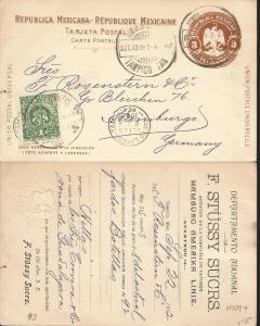 J) 1902 MEXICO, MEXICAN REPUBLIC, EAGLE, 4 CENTS, 3 CENTS, UNIVERSAL POSTAL UNIO