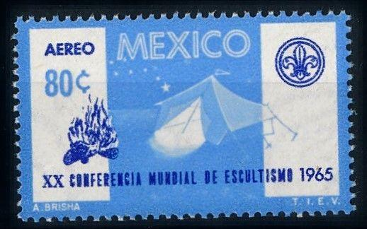 [66746] Mexico 1965 Scouting Jamboree Pfadfinder Airmail MNH