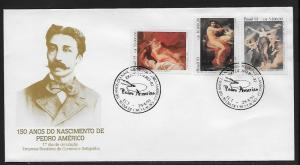Brazil 2404-6 Pedro Americo Paintings Unaddressed FDC
