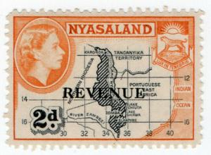 (I.B) Nyasaland Revenue : Duty Stamp 2d