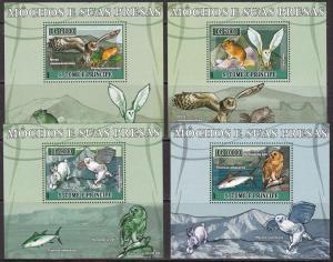 Sao Tome and Principe, Fauna, Birds, Owls, Animals LUX S/S MNH / 2007