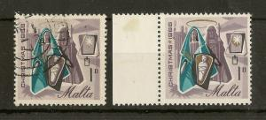 Malta 1966 1d Christmas Gold Omitted