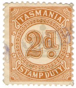 (I.B) Australia - Tasmania Revenue : Stamp Duty 2d (underprint)