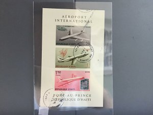 Republic D'Haiti Airport International cancelled stamps sheet  R27051