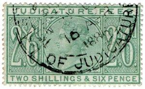 (I.B) QV Revenue : Judicature Fees 2/6d (1881)