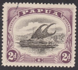 1909 Papua Lakatoi 2d Small Papua - Wmk sideways - Perf 12½ OG used