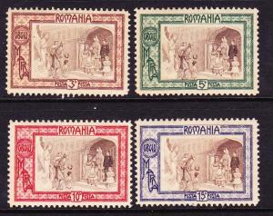 ROMANIA  1907  WELFARE FUND SET 4  MH  SG 528/31