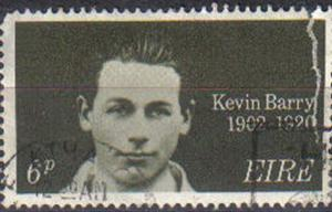 IRELAND, 1970, used 6d, 50th Death Anniv of Kevin Barry (patriot). damaged