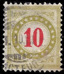 Switzerland 1908 Zu porto 25Bk inverted frame postage due