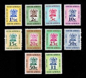 SOUTH AFRICA / SUID-AFRIKA - REVENUE STAMPS (10) MNH-OG 1961-68