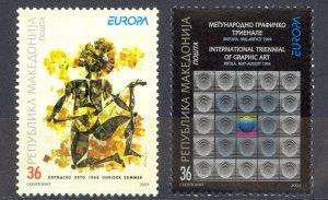Macedonia Sc# 264-265 MNH 2003 Europa