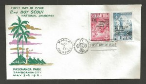 1961 Boy Scouts Philippines 2nd Jamboree FDC Pasananca Park cancel