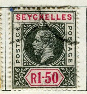 SEYCHELLES; 1912 early GV issue fine used 1.50R. value
