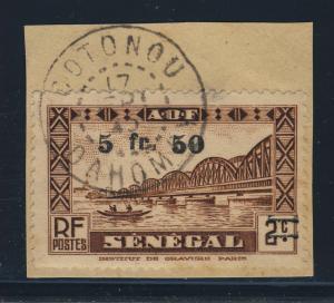 SENEGAL / DAHOMEY - 1945 CAD DE COTONOU SUR Yv.192 5fr50/2c DU SÉNÉGAL