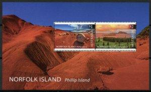 Norfolk Island 2019 MNH Phillip Island Landscapes 2v M/S Trees Tourism Stamps