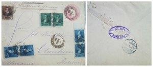 O) 1893 ARGENTINA, RIVADAVIA - SC 93 1c - SC 94 2c - SC 92 1/2c, BELGRANO 5c red