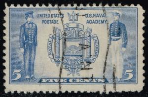 US #794 Seal of US Naval Academy and Cadets; Used (0.25)