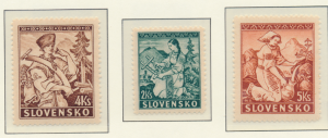 Slovakia Stamps Scott #40 To 42, Mint Never Hinged - Free U.S. Shipping, Free...