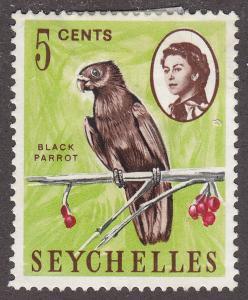 Seychelles 198 Hinged  Black Parrot 1962