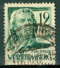 Germany - French Occupation - Wurttemberg - Scott 8N4