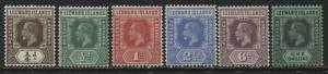 Leeward Islands KGV 1932 Die 1 values 1/4d to 1/ mint o.g.