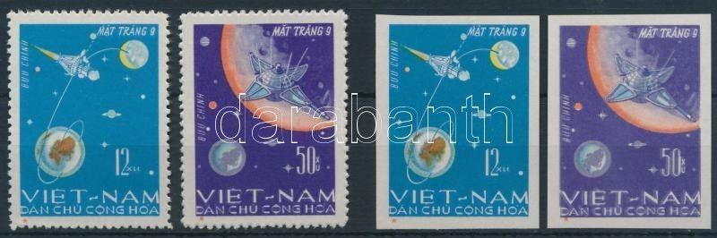 Vietnam stamp Space exploration; Luna 9 perf and imperf set 1966 MNH WS206846
