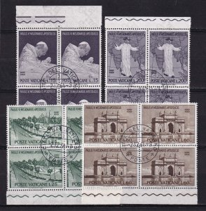 1964 - VATICAN - Scott #400-403 - First Day Cancels - Block Used