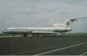 7482 Aviation Postcard  TAJIKISTAN TU-154M EY-85692   Airlines