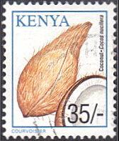 Kenya # 758 used ~ 35sh Coconuts
