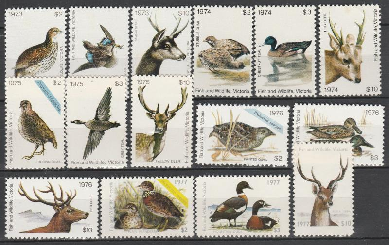 Victoria Fish & Wildlife Sets   MNH  (A8448)