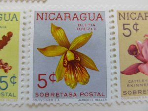 Nicaragua 1962 Orchids 5c fine mng postal tax stamp A11P11F99