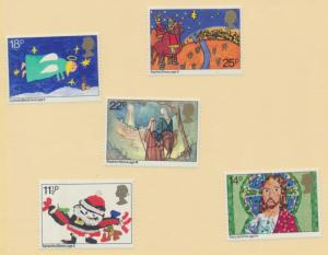 Great Britain Scott #960 To 964, Christmas Issue From 1981, Mint Never Hinged...