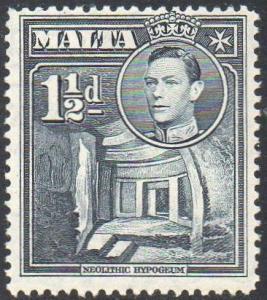 Malta 1943 1½d slate-black MH