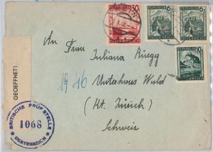 56090 -  AUSTRIA -  POSTAL HISTORY:   COVER with CENSOR TAPE  1946
