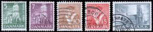 Denmark Scott 252-256 (1936) Used/Mint H F-VF Complete Set, CV $8.10 B