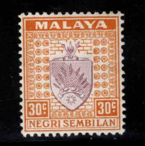 MALAYA Negri Sembilan Scott 30 MH* coat of arms stamp