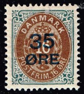 DENMARK STAMP 1912 35/16 Øre Surcharged Stamp MH/OG