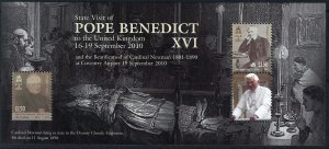 Isle of Man --2010- POPE BENEDICT MNH sheet  # 1393