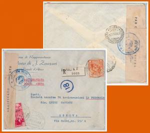 53670 - ITALIA COLONIE: LIBIA -  BUSTA con annullo TRIPOLI N. 7 1941