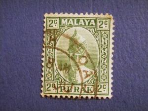 PERAK, 1938, used 2c. green, Sultan Iskandar
