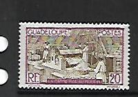 GUADELOUPE, 103, MINT HINGED HINGE REMNANT, SUGAR MILL