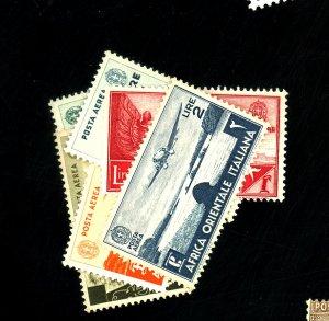 Italian East Africa #C1-3,C5,C7-8 MINT FVF OG LH/HR Cat$84
