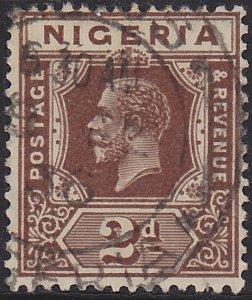 Nigeria, King George V, Sc 23 Die II, Used