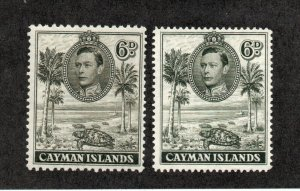 Cayman Islands - SG# 122 MLH & 122a MNG   /     Lot 0921298