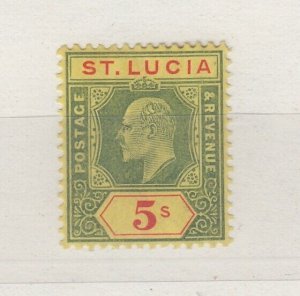 St Lucia KEVII 1904 5/- SG77 MH J6492